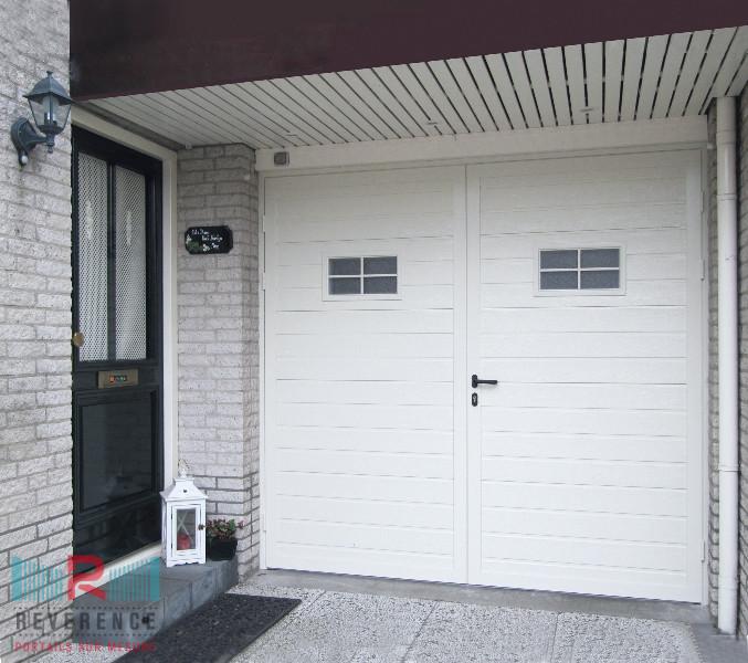 Porte de garage battante reverence for Portes de garage battantes